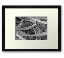 And the earth cries Framed Print