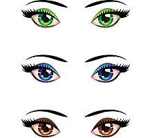 Cartoon female eyes 4 Photographic Print