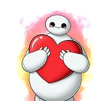 Baymax with heart (without text) by SilveryDreams