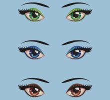 Cartoon female eyes 4 Kids Clothes