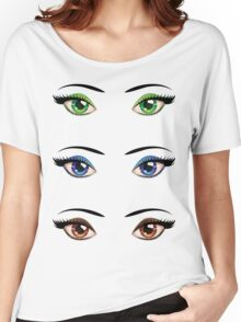 Cartoon female eyes 4 Women's Relaxed Fit T-Shirt