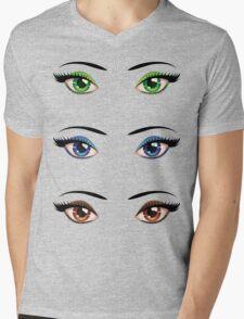 Cartoon female eyes 4 Mens V-Neck T-Shirt