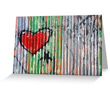 Crinkled heart. Greeting Card