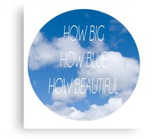 Florence + The Machine - How Big How Blue How Beautiful Canvas Print