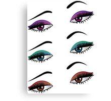 Cartoon female eyes 6 Canvas Print