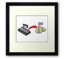 VHS -> DVD Framed Print