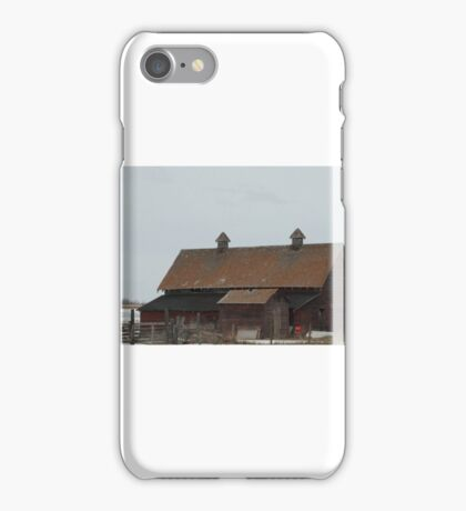 A large red barn iPhone Case/Skin