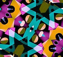 Digital Futuristic Geometric Pattern by DFLC Prints