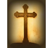 Wooden Altar Cross Photographic Print