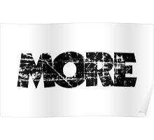 MORE (Black) Poster