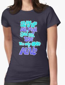 stay up all night Womens Fitted T-Shirt