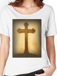 Wooden Altar Cross Women's Relaxed Fit T-Shirt