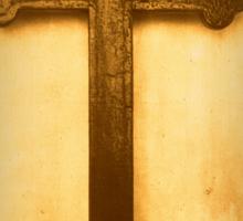 Wooden Altar Cross Sticker