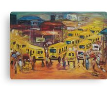 Lagos Bus Stop scene Canvas Print