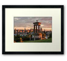 Edinburgh Sunset Framed Print