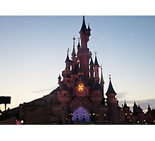 Disneyland Paris- Sunset Photographic Print