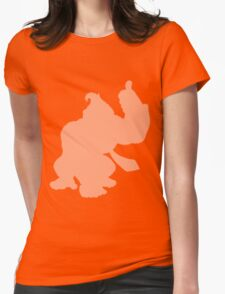Donkey Kong Shape (Silhouette) Womens Fitted T-Shirt