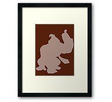 Donkey Kong Shape (Silhouette) Framed Print