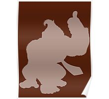 Donkey Kong Shape (Silhouette) Poster