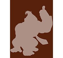 Donkey Kong Shape (Silhouette) Photographic Print