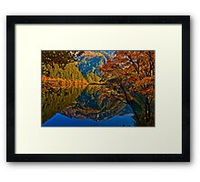 Autumn Reflection in Mirror Lake, Jiuzhaigou Framed Print