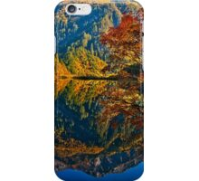 Autumn Reflection in Mirror Lake, Jiuzhaigou iPhone Case/Skin