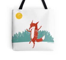Dancing Fox Tote Bag