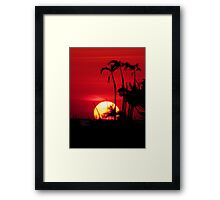 Hot Florida Sunset Framed Print