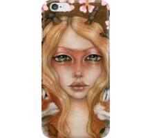 Solstice fox woman portrait iPhone Case/Skin