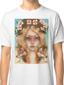 Solstice fox woman portrait Classic T-Shirt