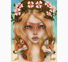 Solstice fox woman portrait Unisex T-Shirt
