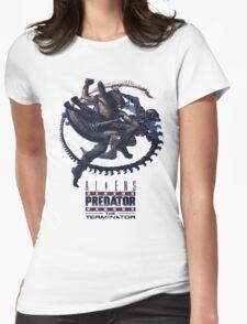 Alien VS Predator VS Terminator Womens Fitted T-Shirt
