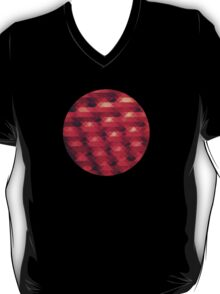 Abstract Color Pattern in Red T-Shirt