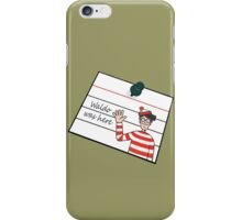 Waldo Was Here - Post it iPhone Case/Skin