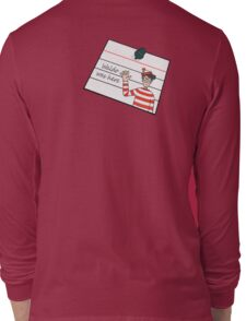 Waldo Was Here - Post it Long Sleeve T-Shirt
