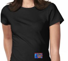 Blue Cat (small down) Womens Fitted T-Shirt
