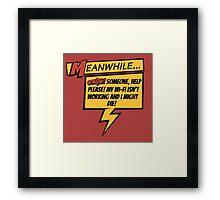 Comic Book Wifi Framed Print