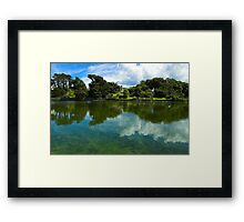 SULBY RIVER  REFLECTION, ISLE OF MAN Framed Print