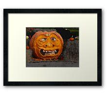 CARVED PUMPKIN Framed Print