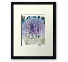 Light Blue Reeds-Available As Art Prints-Mugs,Cases,Duvets,T Shirts,Stickers,etc Framed Print