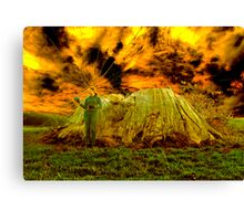 Zoe and the Ancient remnant Eucalyptus Viminalis Canvas Print
