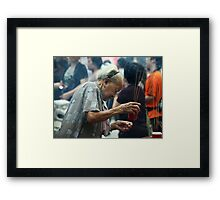 Humble Old Supplicant Framed Print