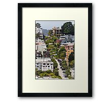 Lombard Street from Coit Tower Framed Print
