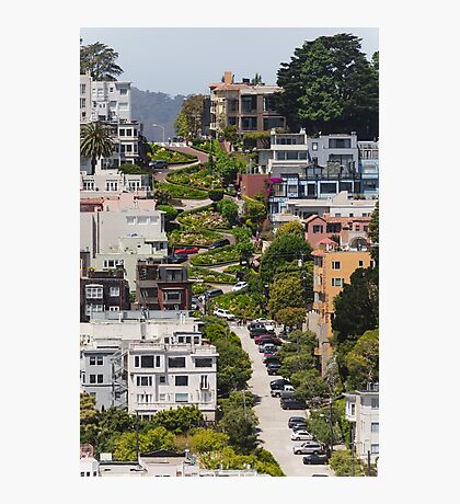 Lombard Street from Coit Tower Photographic Print