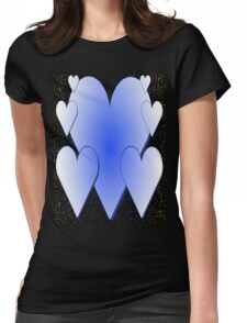 Blue Hearts-Available As Art Prints-Mugs,Cases,Duvets,T Shirts,Stickers,etc T-Shirt