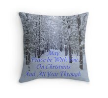 Winter Trail,CHRISTmas Card Throw Pillow