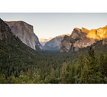 Tunnel View at Dusk Photographic Print
