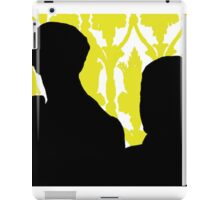 Sherlock and John Silhouette  iPad Case/Skin