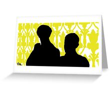 Sherlock and John Silhouette  Greeting Card