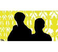 Sherlock and John Silhouette  Photographic Print